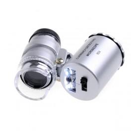 Mini Microscopio Monoculo con Luz Led y Lupa 60x - Inside-Pc
