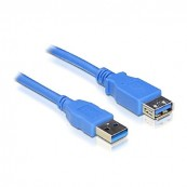 PROLONGADOR CABLE USB 3.0, TIPO A/M-A/H, AZUL - Inside-Pc