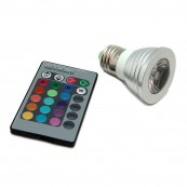 Bombilla LED E27 3W con Mando - Inside-Pc