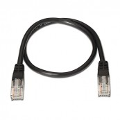 LATIGUILLO RJ45 CAT.6 UTP NEGRO 0.50m NANOCABLE - Inside-Pc