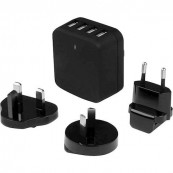 CARGADOR USB 5V 4XUSB STARTECH VIAJES INTERNACIONALES - Inside-Pc
