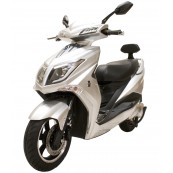 Electric Motorcycle Hawk 49e Homologated 1800W - 40AH Silver - Inside-Pc