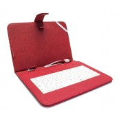 "Funda Tablet con Teclado 7"" Roja - Inside-Pc"