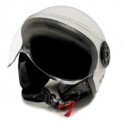 Repuesto Casco Moto Jet Blanco con gafas Protectoras Talla L - Inside-Pc