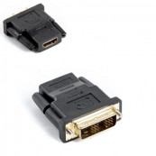 ADAPTADOR HDMI HEMBRA A DVI-D (18+1) MACHO LANBERG AD-0013-BK - ENLACE SIMPLE - Inside-Pc