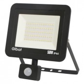 LED Spotlight ELBAT Slim Series 50W Motion Sensor 6500K Black - Inside-Pc