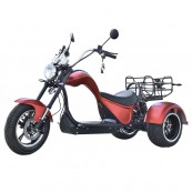 Electric Motorcycle CityCoco Cobra S3 49e Homologated 4000W - 24AH - Double Motor - Red - Inside-Pc