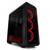 GAMING PC CASE PHOENIX FREYA RED EDITION - DUST FILTERS - USB3.0 - TRANSPARENT SIDE - Inside-Pc