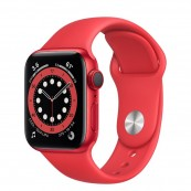 APPLE WATCH SERIES 6 GPS - 4G 40MM PRODUCT RED M06R3TY CORREA DEPORTIVA ROJA - Inside-Pc