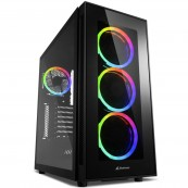 CAJA PC ATX SHARKOON TG5 SILENT PCGH - 2X USB3.0 - 2X USB2.0 - RGB - Inside-Pc