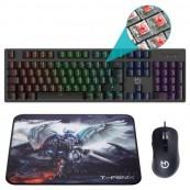 Pack Gaming Hiditec PAC010026 - Teclado + Raton + Alfombrilla - Inside-Pc