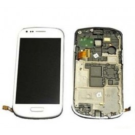 REPUESTO PANTALLA LCD+TOUCH+FRAME(MARCO) SAMSUNG GALAXY S3 MINI I8190 BLANCO - Inside-Pc