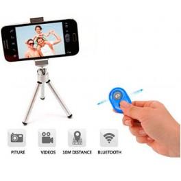 Disparador Camara remoto Bluetooth Azul - Inside-Pc