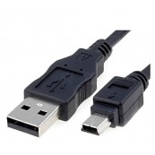 CABLE USB 2.0 A/M-MINI USB 5PIN/M 1.8MTS - Inside-Pc