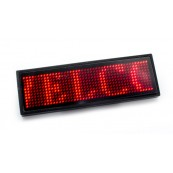 Placa Anuncio Texto Led Rojo - Inside-Pc
