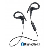 Running Sports Earphones Bluetooth + Micro Biwond Black - Inside-Pc