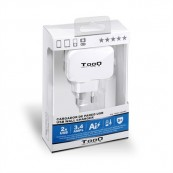 USB WALL CHARGER TOOQ TQWC-1S02WT WHITE - Inside-Pc