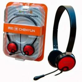 Auricular + Micrófono CY-515 Rojo - Inside-Pc