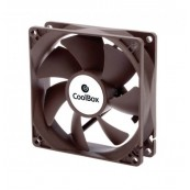 VENTILADOR AUXILIAR COOLBOX 8CM - 1600RPM - COLOR NEGRO - Inside-Pc