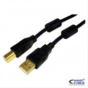 CABLE USB 2.0 IMPRESORA TIPO AM - B-M NANOCABLE - Inside-Pc