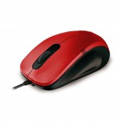 OPTICAL MOUSE PHOENIX PH516R USB 1000DPI 3 BUTTONS RED BLACK - Inside-Pc