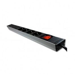 REGLETA RACK 6 TOMAS 1U PHASAK CON INTERRUPTOR - Inside-Pc
