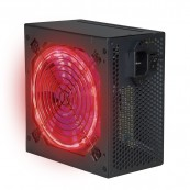 FUENTE ALIMENTACION GAMING PHOENIX 600W ATX - 12CM LUCES LED - SILENCIOSA - PFC ACTIVO - NEGRO - Inside-Pc
