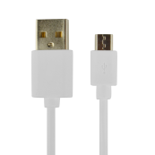 CABLE POWER2GO USB-A A MICRO-USB 1M BLANCO PACK 5 - Inside-Pc