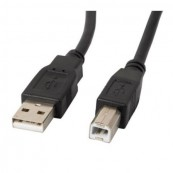 CABLE USB-A MACHO A USB-B MACHO LANBERG CA-USBA-10CC-0018-BK - NEGRO - 1.8M - Inside-Pc